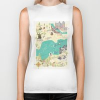 princess bride Biker Tanks featuring Princess Bride Discovery Map by Wattle&Daub