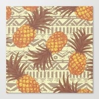 pineapples Canvas Prints featuring pineapples by Julia