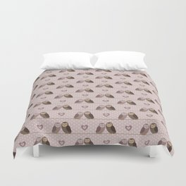 Owls in love (pink) Duvet Cover