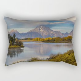 USA Grand Teton Nature Mountains Sky park Lake Forests landscape photography mountain Parks forest Scenery Rectangular Pillow