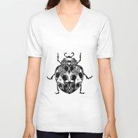 ladybug V-neck T-shirts featuring Ladybug by SilviaGancheva