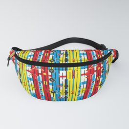 Graphic retro weave Fanny Pack