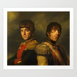 Noel Gallagher & Liam Gallagher - replaceface Art Print