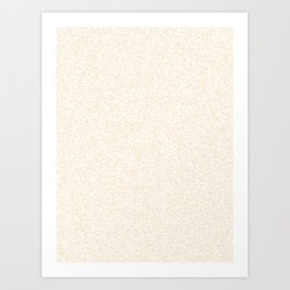 Spacey Melange - White and Champagne Orange Art Print