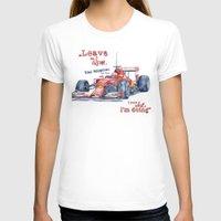 f1 T-shirts featuring F1 Ferrari-Kimi Räikkönen by dareba