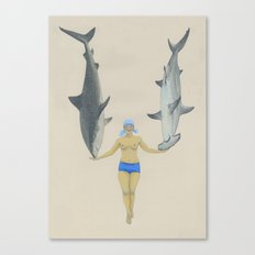 The Shark Charmer Canvas Print