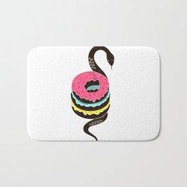 Snake Donuts Bath Mat