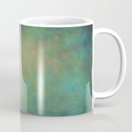 Abstract Soft Watercolor Gradient Ombre Blend 4 Yellow Blue and Green Coffee Mug
