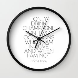 Love Quote Celebrate Poster Celebrate Quote Champagene Sign Coco Quote Champage Quote Bar Quote Wall Clock