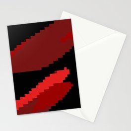 Black and Red abstract Stationery Cards