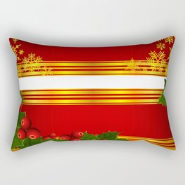 Christmas holly decoration Rectangular Pillow
