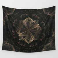 ornate elephant Wall Tapestries featuring Ornate Blossom by Charma Rose