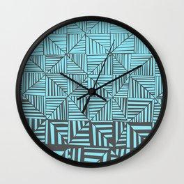 Red & Gray Pattern Wall Clock