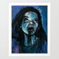 bjork Art Prints featuring BJORK by chris zombieking