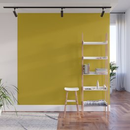 Solid Cookie Yellow Brown Color Wall Mural