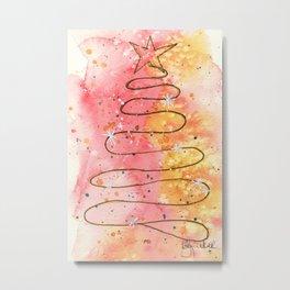 Christmas Tree Abstract Metal Print