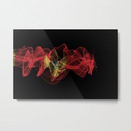 Montenegro Smoke Flag on Black Background, Montenegro flag Metal Print