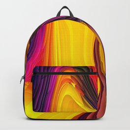 Melting Pot of Colors Abstract Backpack