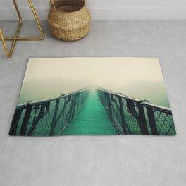 suspension bridge Rug