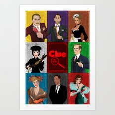 Clue Movie Poster Art Print