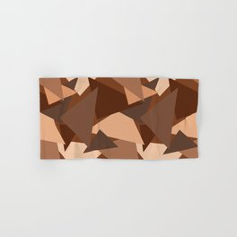 Chocolate Caramels Triangles Hand & Bath Towel