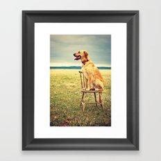 DogOnChair Framed Art Print