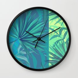 soft tropic Wall Clock