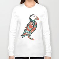 puffin Long Sleeve T-shirts featuring Puffin by Siggi Odds