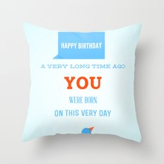 Happy birthday, Ancient One Throw Pillow