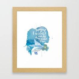 kara is who i am Framed Art Print
