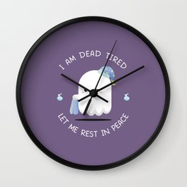 Tired Ghost Wall Clock