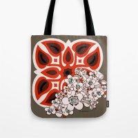 hawaiian Tote Bags featuring Mid Century Hawaiian by Vikki Salmela