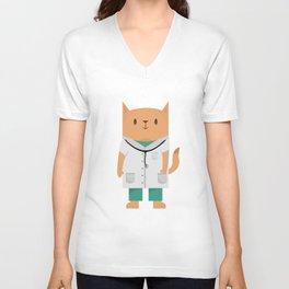 Doctor Cat Unisex V-Ausschnitt