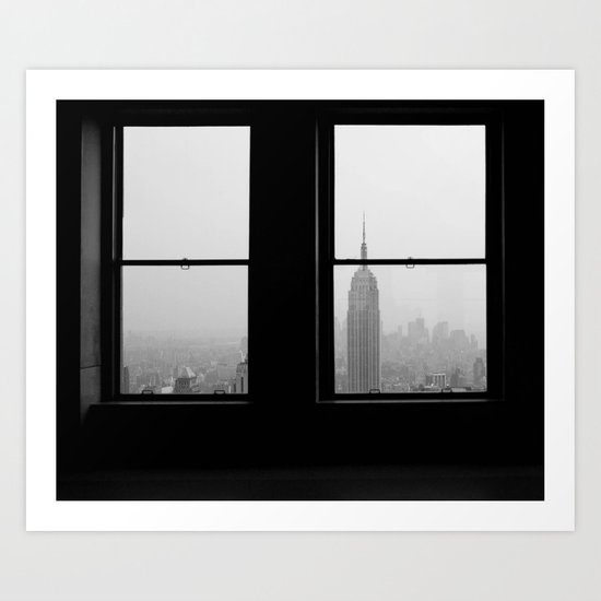 Empire State from the Rock Art Print