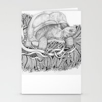 tortoise Stationery Cards featuring Tortoise by Squidoodle