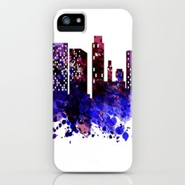 Colorful silhouette of the city iPhone Case