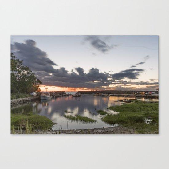 Summer Lanescove sunset Canvas Print