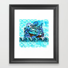 Der be Kraken  Framed Art Print