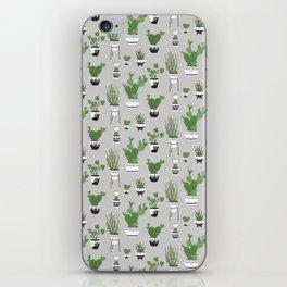 Cactus Love (in gray) iPhone Skin