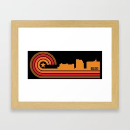 Retro Biloxi Mississippi Skyline Framed Art Print