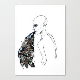 vomiting. eyes series Canvas Print