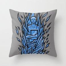 fahrenheit 451 - bradbury blue variant Throw Pillow