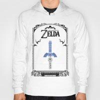 the legend of zelda Hoodies featuring Zelda legend - Sword by Art & Be