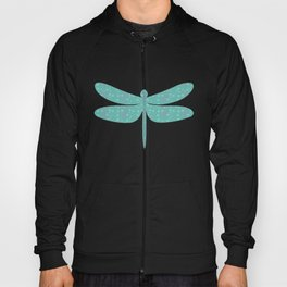 pattern with dragonfly Hoody