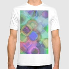 WaterColor#1 Mens Fitted Tee MEDIUM White