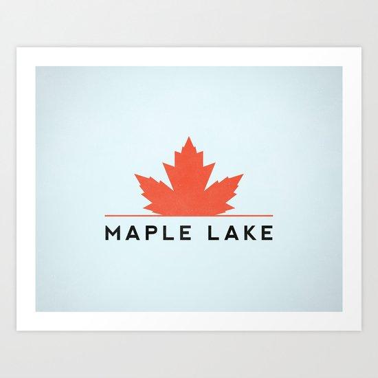 Maple Lake Art Print