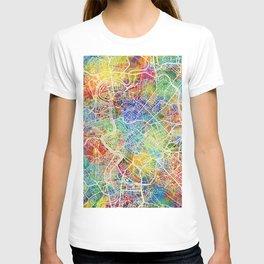 Rome Italy City Map T-shirt