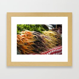 Market Carrots Framed Art Print