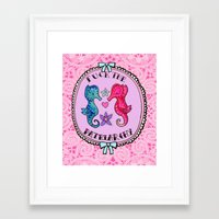 patriarchy Framed Art Prints featuring F**K The Patriarchy by Kittymacdraws