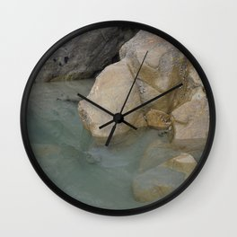 Green Water Rock Pool Wall Clock